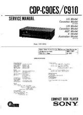 Buy SONY CDP-C910 Service Manual by download #166603