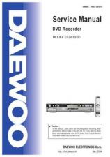 Buy DAEWOO SM DQR-1000D (E) Service Data by download #146523