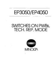 Buy Minolta EP3050 4050 SWITCHES Service Schematics by download #137500
