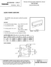 Buy MODEL TA7376P Service Information by download #124623