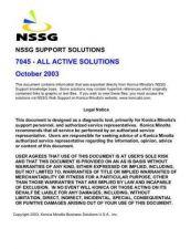 Buy Konica 7045 Service Schematics by download #136254