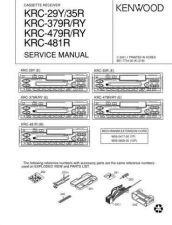 Buy KRC-309S 389 389W 409 479 489 489G Service Schematics by download #131684