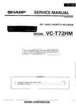 Buy Sharp VCT72H-021 Service Schematics by download #159428