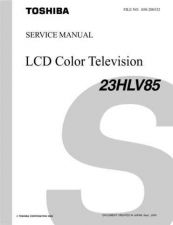 Buy TOSHIBA 23HLV85 SVM Service Manual by download #167359