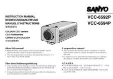 Buy Sanyo VCC-5775P Operating Guide by download #169602