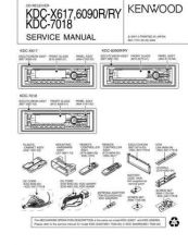 Buy KENWOOD KDC-X615 6015 6080R RY RV 7016 Service Manual by download #151903