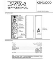 Buy Kenwood LSV720B Service Manual by download Mauritron #192470