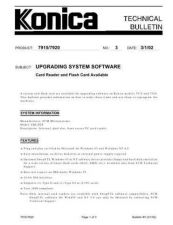 Buy Konica 03 UPGRADING SYSTEM SOFTWARE Service Schematics by download #135850
