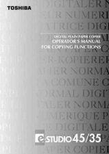 Buy Toshiba COPIER USER MANUAL Service Manual by download #139247