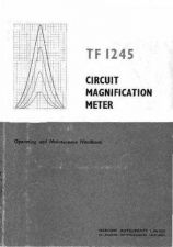 Buy 3285_MARCONI_CIRCUIT_MAGNIFICATION_METER_TF1245 Manual by download Mauritron