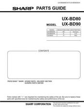 Buy Sharp UXBD90H741 Service Manual by download Mauritron #192259