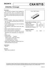 Buy MODEL CXA1871 Service Information by download #124016