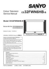 Buy Sanyo CE32FWN6HB-B-00-01 SM Manual by download #173271