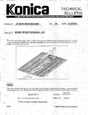 Buy Konica 29 WIRE POSITIONING JIG Service Schematics by download #136088