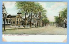 Buy CT Waterbury West Main St Tree Lined Street Scene Unpaved Road w/Old Build~695