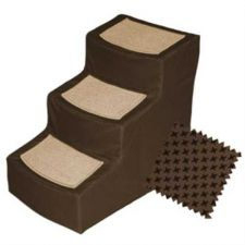 Buy Designer Stair III Pet Stairs with Removable Cover Chocolate