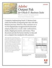 Buy DAEWOO DS OUTPUTPAK ORACLE Manual by download #183942