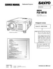 Buy Sanyo PLV55WM1(OM5110720-00 05) Manual by download #175091