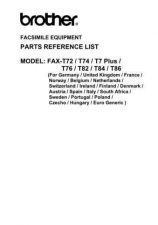 Buy BROTHER FAX T7 PLUS, T72, T74, T76, T82, T84, T86 PARTS MANUAL Service Manual by