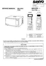 Buy Sanyo EM1900V UK Manual by download #174228