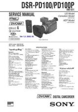 Buy SONY DSR-PD100P Service Manual by download #166784