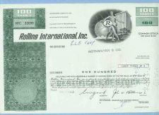 Buy DE na Stock Certificate Company: Rollins International, Inc. ~68