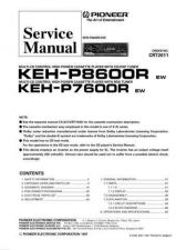 Buy PIONEER KEH-P7600R P8600R Service Manual by download Mauritron #193619