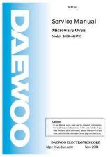 Buy DAEWOO SM KOR-6Q17 (E) Service Data by download #150628