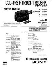 Buy SONY CCD-TR30 Service Manual by download #166371
