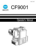 Buy Minolta CF9001 OPS MANUAL Service Schematics by download #137022