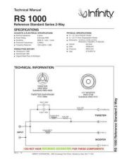 Buy INFINITY RS 1000 TS Service Manual by download #151388