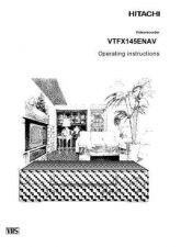 Buy Hitachi VTFX145ENAV SV Manual by download #171016