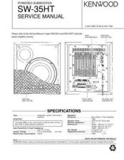 Buy KENWOOD SW-35HT Technical Info by download #148346