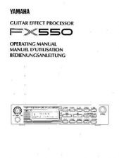 Buy Yamaha FX550E Operating Guide by download Mauritron #204689