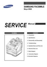 Buy Samsung Msys sf6900 1 Service Manual by download #138769