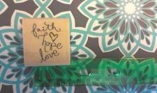 Buy Stampabilities wood mounted Love Faith hope