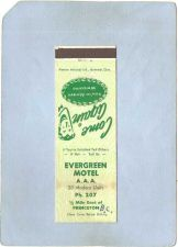 Buy CAN Princeton Matchcover Evergreen Motel w/Very Low Phone Number can_box1~67