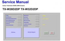 Buy Television TXW32D2DP Service Manual by download Mauritron #194862