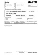 Buy Sanyo MCD-ZX390L-01 Manual by download #174575