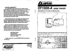 Buy Amprobe OT1000A Operating Guide User Instructions by download Mauritron #194435