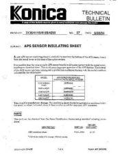 Buy Konica 37 APS SENSOR INSULATING SH Service Schematics by download #136137