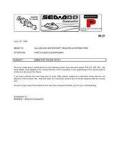 Buy SEADOO SBP98 A Service Manual by download #157587