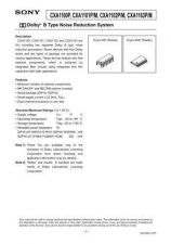 Buy INTEGRATED CIRCUIT DATA CXA1102J Manual by download Mauritron #186732