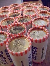 Buy 5 Mint Sealed Unopened Rolls of Gold Dallars ~ President Coins ~