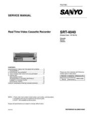 Buy Sanyo SRT-7168P-01 Manual by download #177218