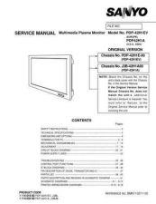 Buy Sanyo Service Manual For PDP-42H1EV Manual by download #175991