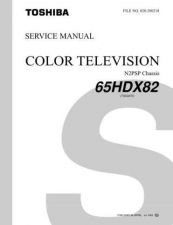 Buy TOSHIBA 65HDX82 SVCMAN ON by download #129425
