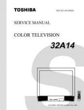 Buy TOSHIBA 32A14 SVCMAN Service Schematics by download #159849