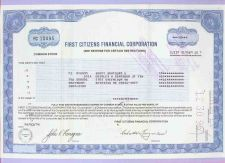 Buy DE na Stock Certificate Company: First Citizens Financial Corporation ~35