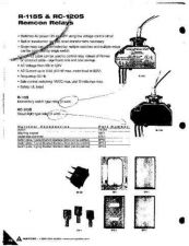 Buy Amprobe RC120S Operating Guide User Instructions by download Mauritron #194491